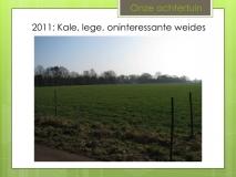 2011: kale, lege weides